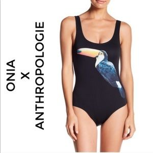 $195 Anthropologie Onia One Piece Toucan Swimsuit